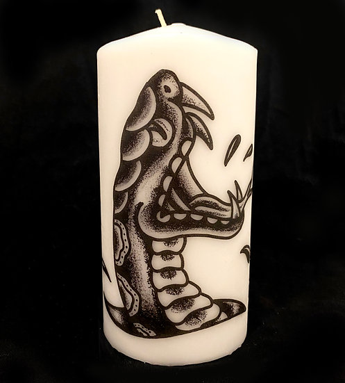 Traditional Snake Pillar Candle (unscented)