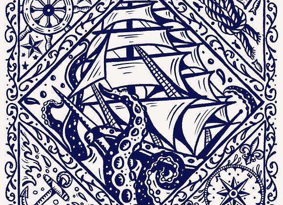 Sailor's Delight Bandana White