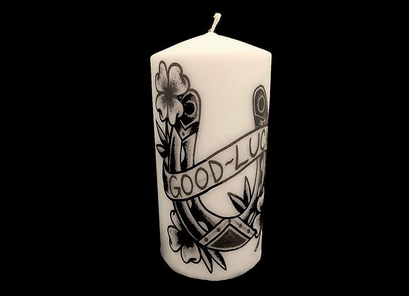 """Traditional Horseshoe 8"""" Decorative Pillar Candle"""