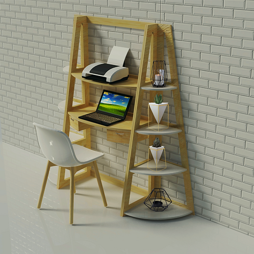 Compact Table & Shelving Unit