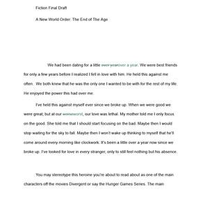 Fiction Final Draft