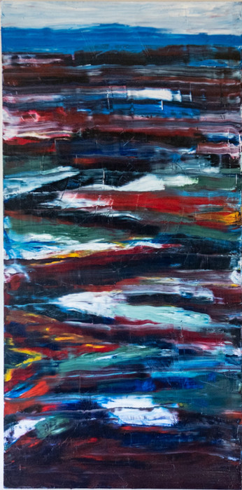 Storm on the water 50cm x 102cm