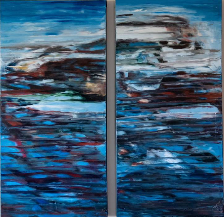 Rock Pool 2 - 61cm x 122cm