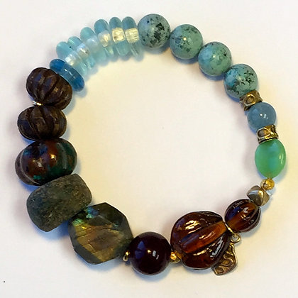 Turquoise, Lab and seaglass