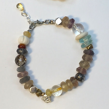 Fluorite and silver clasp