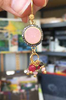Pink Druzy and Rubies