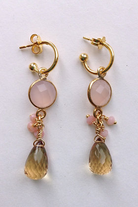 Rose Quartz and Citrine Huggers