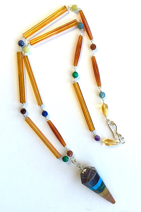 Chakra point with antique glass beads