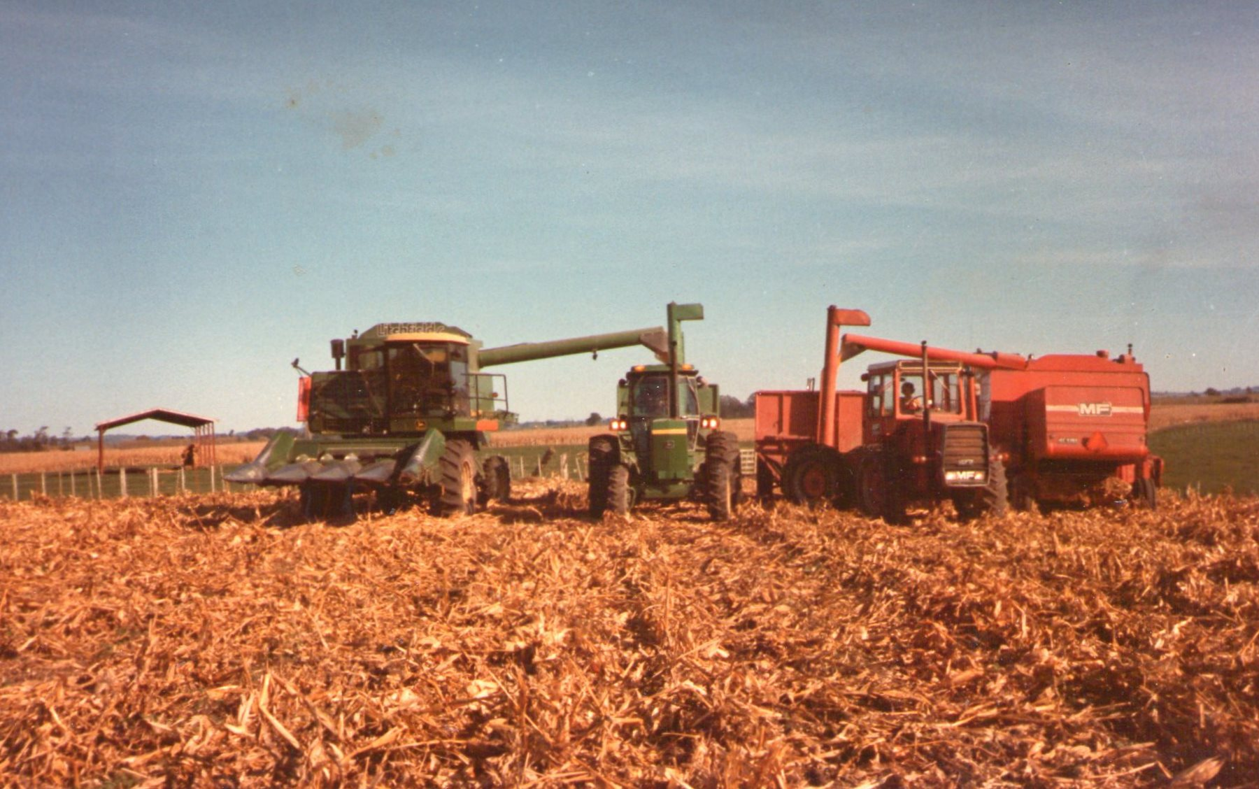Combines then and now