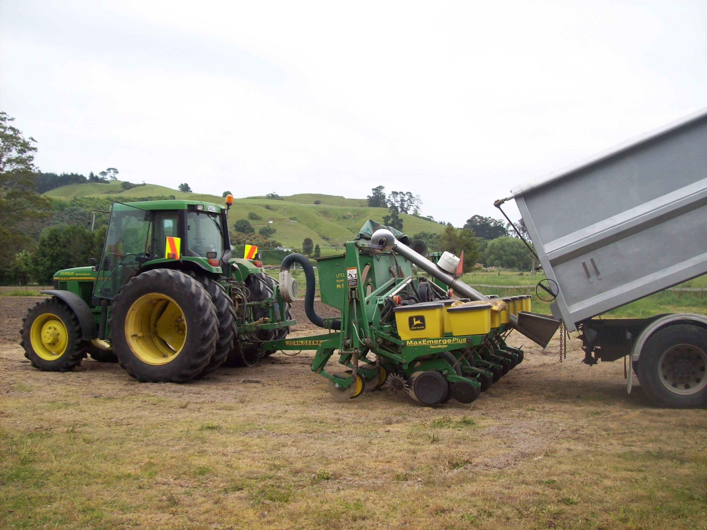 Adding fertiliser