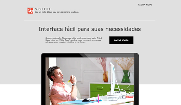 Página Promocional website templates – Landing Page de Novo Software
