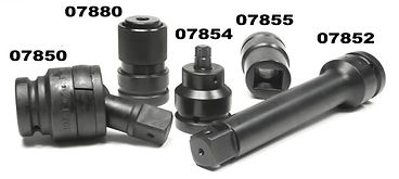 Socket accessories, extensions, universal joint, torx bit