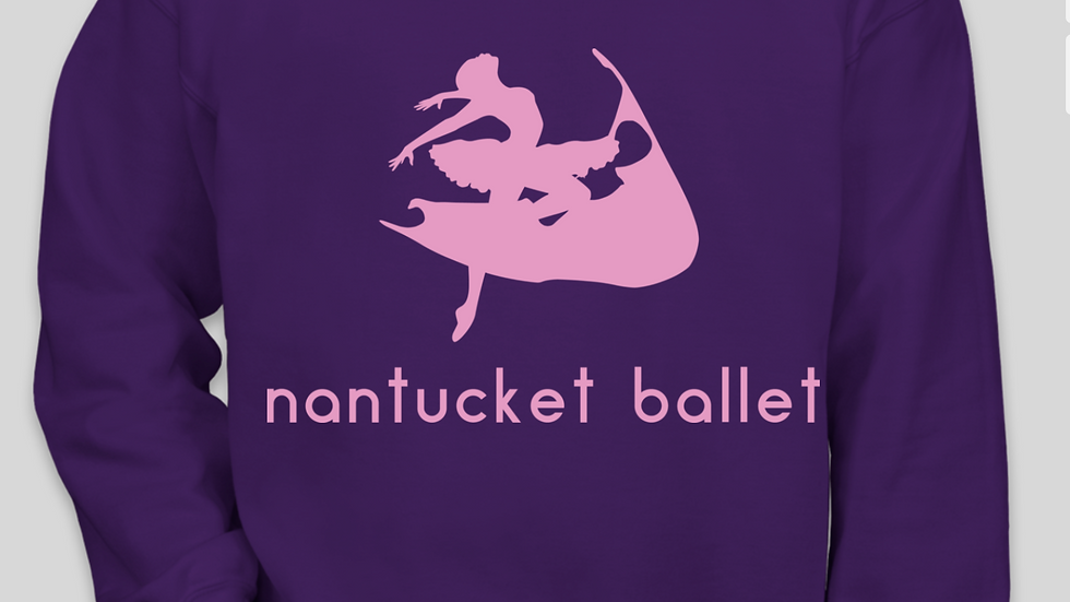 Purple Nantucket Ballet Crewneck