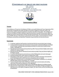 Communications Officer Job Posting - Jun