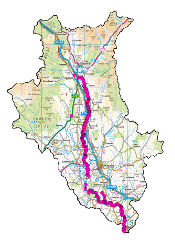 Himalayan Balsam Catchment Map