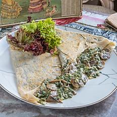 Spinach & Mushroom Buckwheat Crêpe