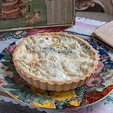 Mushroom & Emmental cheese Quiche