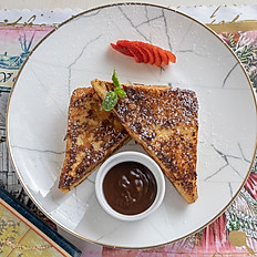 French Toast w/ Valhrona Dark chocolate