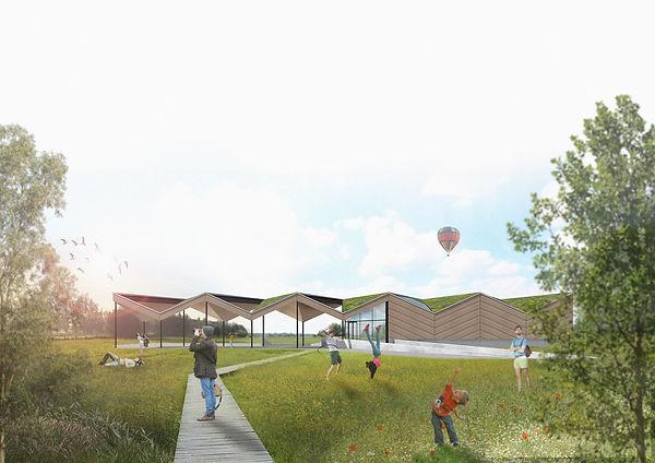 MVDB architectuur Milos Van den Berge wedstrijd natuureducatief centrum
