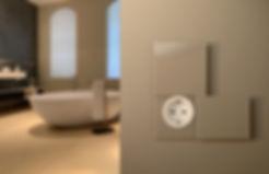 Brauner Lichtschalter Badezimmer ROHDE