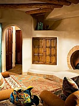 Hobbit round fireplace