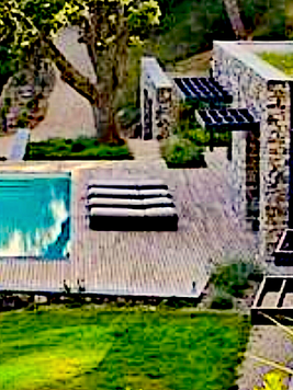 earth sheltered aerial pool