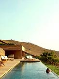 Underground hillside pool