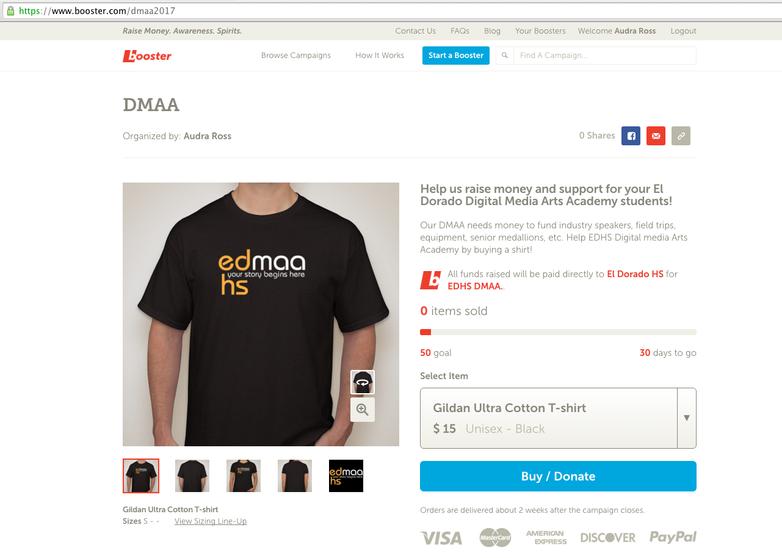 DMAA Shirts Available!