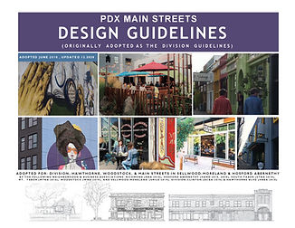 Cover PDX Main St. Design Guidelines - 1