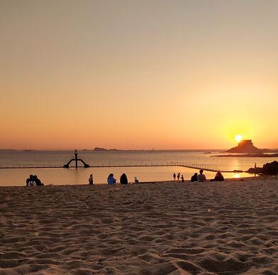 plage soleil saint malo