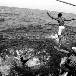 Jumping fisherman