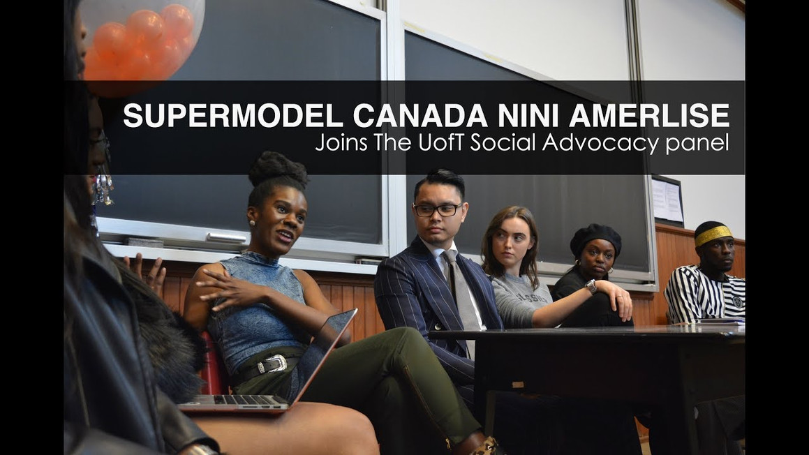 Supermodel Canada Nini Amerlise joins University of Toronto - Social Advocacy panel