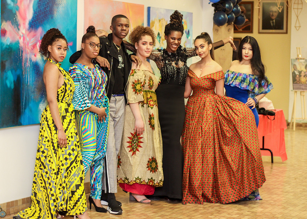 Nini Amerlise CTA students from the Black History fashion show segment