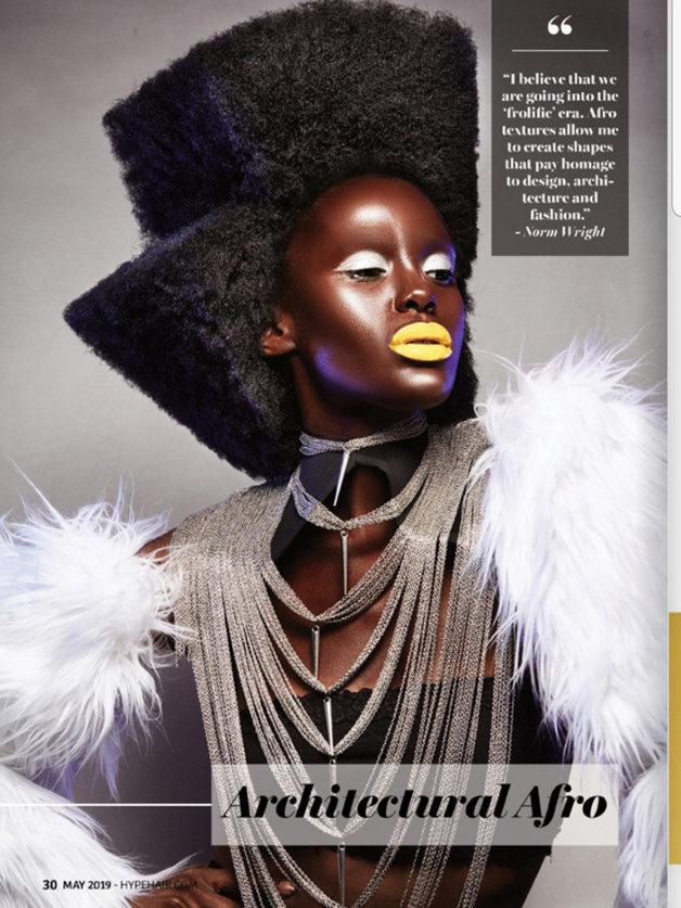 Nini Amerlise Featured model for Hype Hair Magazine