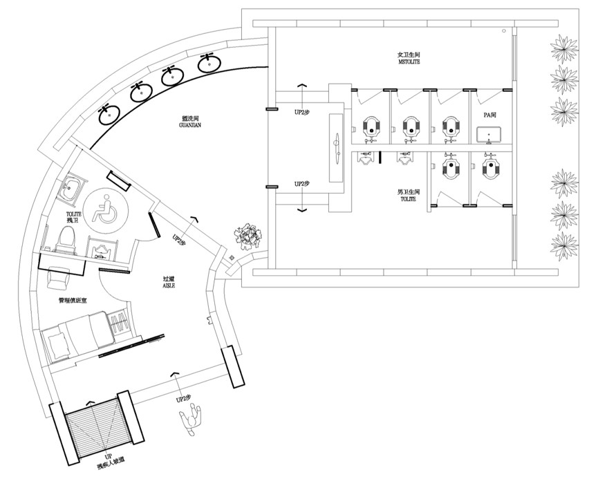 Eco-Washroom floorplan