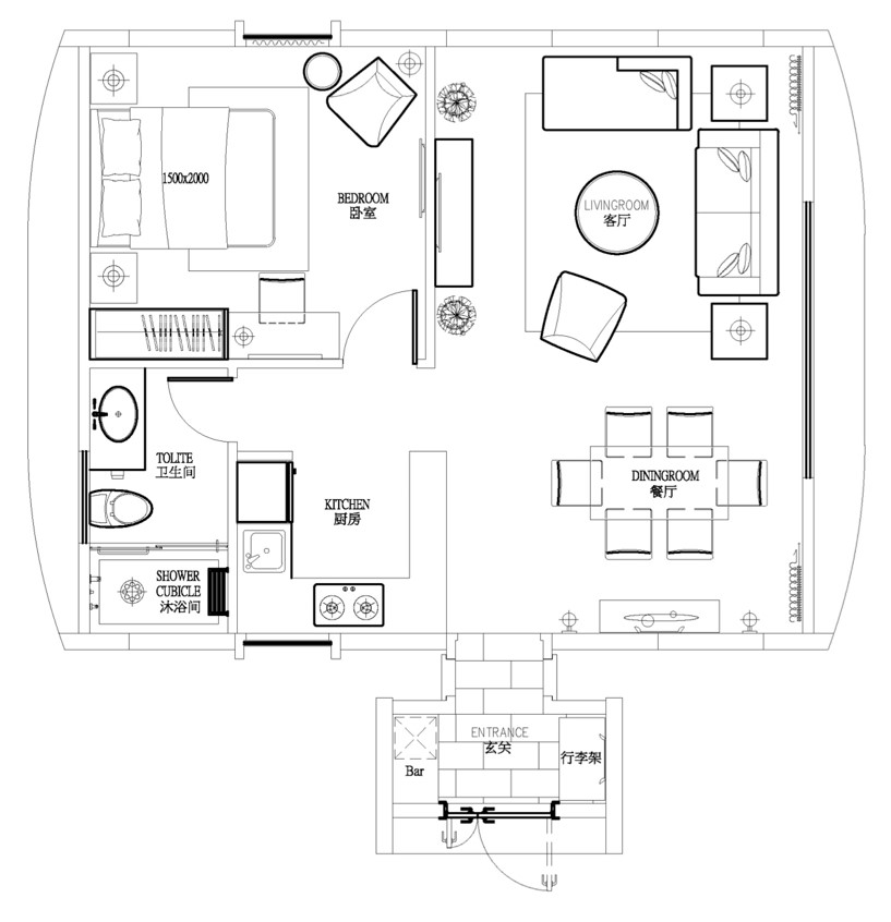 Residential #A Floorplan