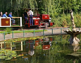 Minature engine at Statfold Barn Railway