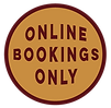 Online bookings only graphic