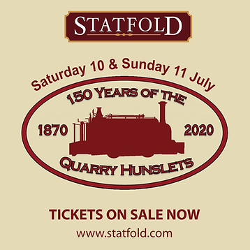 Statfold Hunslet 150 years graphic
