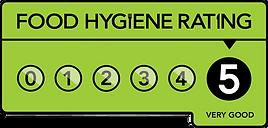 Food hygiene rating 5 star logo