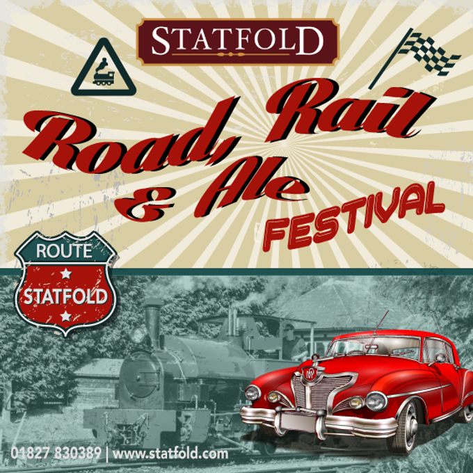 Road rail and ale event graphic