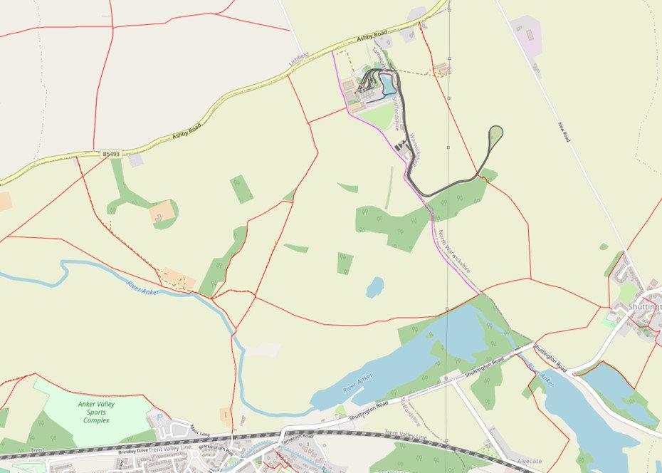 Footpath Map around Statfold Barn Railway