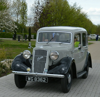 Grey car in strawberry park at Statfold