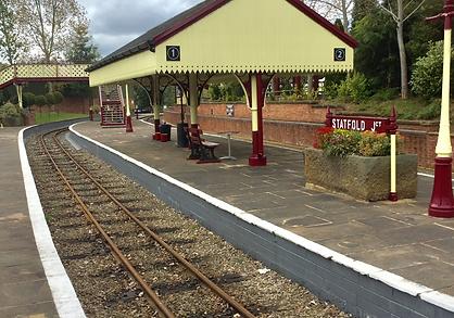 Statfold Junction Platform at Statfold Barn Railway