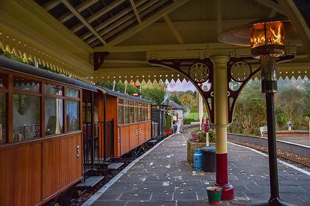 Vintage train station at Statfold Barn Railway
