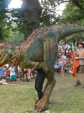 T.rex Dexter entertaining festival crowd