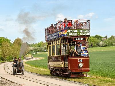 Vintage tram photo taken at Statfold Barn Railway