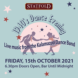 Statfold 1940s Dance Evening Graphic