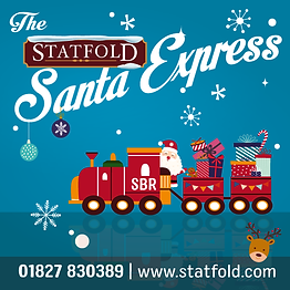 Santa Express Cheerful Illustrated graphic