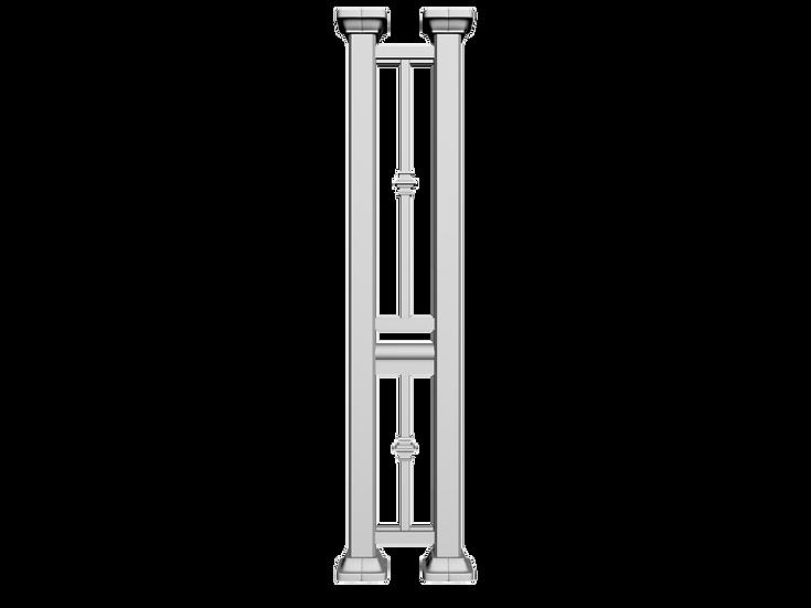 Aluminum Column | Double Post with Single Collar Picket